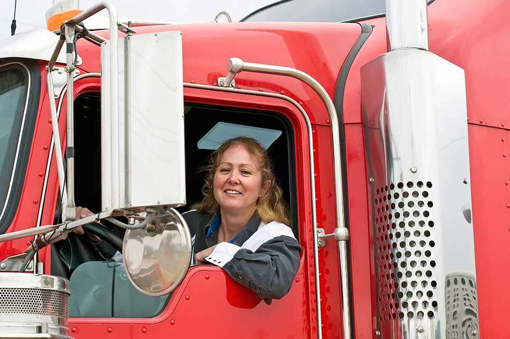 Female felon truck driver